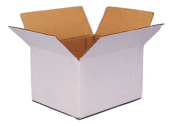 White Exterior Kraft Box Example